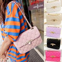 Fashion Classic messenger bag Women's handbag women leather bag vintage bag shoulder bags  female small plaid handbag black pink