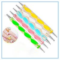 5pcs/Set 2 Way Dotting Pen Marbleizing Painting Tool Nail Art Dot Set Nail Art Tools Dotting Pen