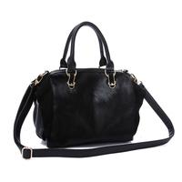 Drop shipping quality  fashion genuine leather handbag big bag large capacity horsehair women's cross-body bag one shoulder