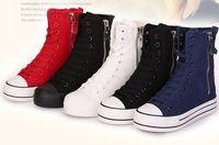 Super Quality ! women's 100% comfortable canvas shoes female zipper side shoes casual shoes women fashion canvas  short boots