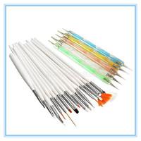 Nail Tools 20pcs/Set Nail Art Design Set Dotting Painting Drawing Polish Brush Pen Tools Nail Brushes&Nail Dotting Pen