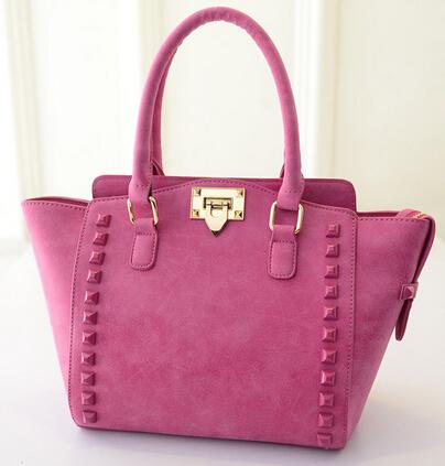 Fashion Rivet trapeze bag women designer handbags high quality shoulder bag celebrity inspired bags bolsa feminina(China (Mainland))