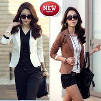 2014 New Women Spring Short Suit Blazers Female European Style Plus Size Single Button Leisure Casual Jackets Coats 20