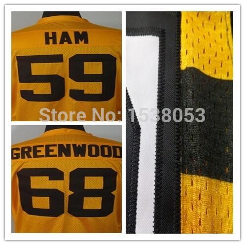 68 LC Greenwood Jersey Size 60 XXXXXL S M L Steelers Football Jerseys cheap authentic sports jerseys Stitched 59 Jack Ham jersey(China (Mainland))
