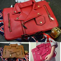 2015 Casual Women Purse Shoulder Bags Jacket Garment Daily Clutch Bag Envelope Cloth Zipper Handbags Messenger Bags BA319