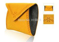 Fashion Women Yellow Felt Handbag Ladies Purse Day Clutches & Evening Bag