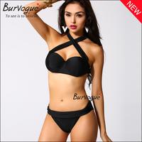 2015 sexy women bikinis set triangl swimwear brazilian bathing suit push up tops and bottoms bandage summer beach wear swimsuit