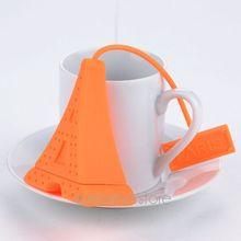 2015 Coffee Tea Set Silicone Eiffel Tower Tea Strainer Coffee Infuser Bag Package Tea Filter Infuser