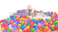 EMS free shipping 1000pcs/lot 5.5cm Multicolor Hollow plastic ball Fun ball High quality Ocean ball Eco-friendly plastic ball