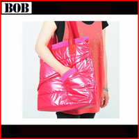 2015 Fashion Design Soft Down Cotton -Padded Shoulder Bags With Glove For Woman,The Female Handbags / Tote Bags,High Quality