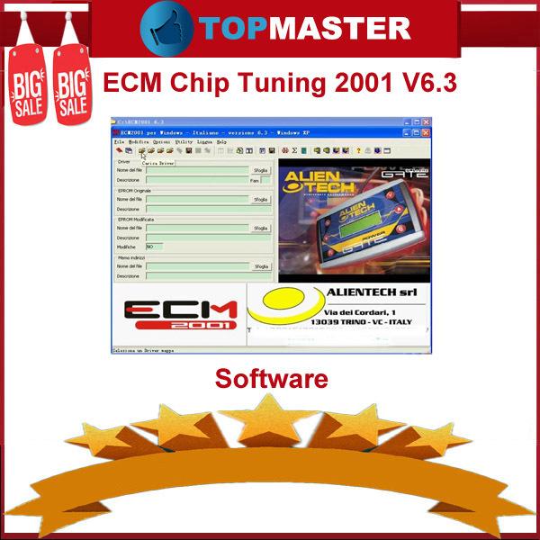 New 2015 ECM Chip Tuning 2001 V6.3 Software Remap Car Computer Injection ECU For More Power Engine Auto ECU Diagnostic Software(China (Mainland))