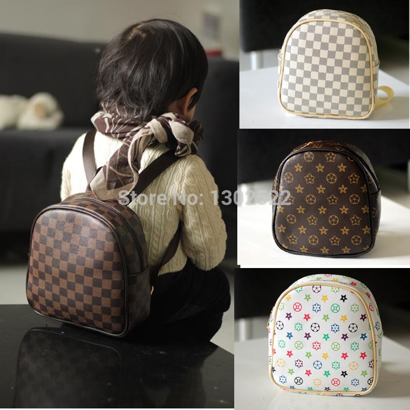 2014 nova marca designer pequeno crianças do vintage saco de escola PU mochila meninos meninas sacos de bebê jardim de infância mochila escolar(China (Mainland))