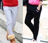 2014 Women Pants Spring winter warm pattern Sports Pants Casual Loose Cargo Trousers Ankle Length Sweatpants LJ282QAF