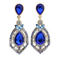 Emerald / Blue / Pink Rhinestone Dangle Earrings Fashion Party Jewelry Elegant Drop Earrings  BJE97613