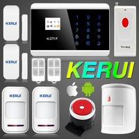 Android IOS APP 433Mhz Dual Net GSM PSTN LCD Touch Keypad Home Security Voice Burglar Alarm Anti-pet PIR Detector+Panic Button