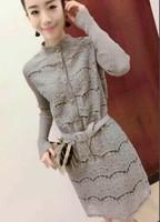 2015 new fashion women casual dress long sleeve winter dress vestidos