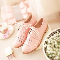 free shipping women's spring and autumn British style pointed toe shoes large size deep mouth candy color flats dx1360 f-473