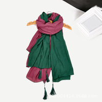 New arrival 2014 autumn and winter cape daisy embroidered autumn scarf female chinese knot tassel scarf