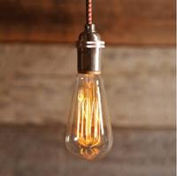 40W 60W Vintage Nostalgic Ediosn Light Bulb E27 110V 220V ikea Antiqued Tubular Retro Lamp Bulb for Chandelier Pendant Lights