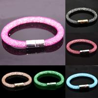 2015 NEW Fashion Design Girl Jewelry Handmade Stardust Crystal Bracelets Women Charm Bangle Wholesale Free Shipping JDB001