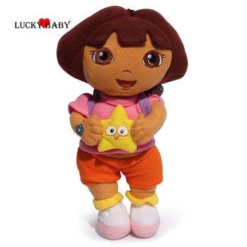 Дора исследователь со звездой очень большой плюшевые куклы дора исследователь детские игрушки новый 11.8 дюймов 30 см есть на складе