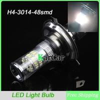 New arrivals 2PCS/Lot H4 3014 48SMD High/Low Beam Headlights, 12V LED Head Lights Motorcycle Car Head Light Bulbs