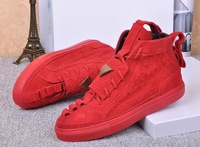 Men and women unisex fashion sneakers brand leather shoes triangle embossing lace-up flats leisure sneakers