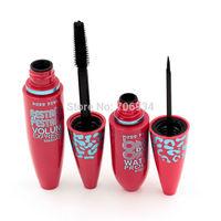 Maquiagem Mascara 2IN1 waterproof Eye Rimel Leopard Colossal 1set/lot Silicone Brush Mascara Extra Long Lasting C86