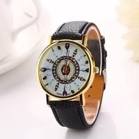 Fashion design geneva watch Women dress watches  quartz watch for female women dress Clock relogios relojes leather strapXR709
