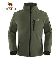 2015 Free shipping Camel Soft Shell Jackets men soft shell jacket waterproof windproof fleece jacket light travel and leisure
