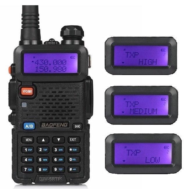 Baofeng UV-5RTP VHF/UHF 136-174/400-520 MHz Dual-Band FM High Power 1/4/8W Two-way Ham Radio Walkie Talkie + Earpiece(China (Mainland))