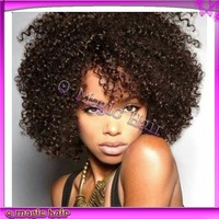 6A virgin Indian Curly Lace Wig,lace front wig Kinky Curly wig,short full lace human hair wigs for black women