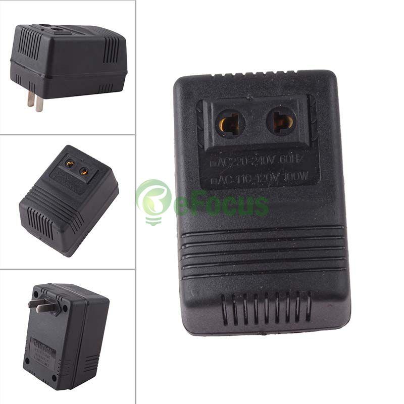 100W AC Power 220V to 110V Voltage Converter Adapter Travel Transformer US Plug #58547(China (Mainland))