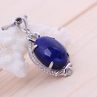 Top 5A lapis lazuli less white Shaojin 925 silver inlaid Lapis Pendant pendants wholesale manufacturers of clavicle