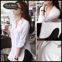 2014 New Fashion Women's  Shirts Blouses Gossip All-match Loose Shirt Clothing Slim Chiffon Shirt Long-sleeve Shirt