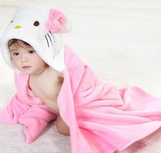 new design baby clothing Bathrobe Hoodie Hoody Costume Bath Towel Baby Robe Kids Robes Infant cloth wrap cloak Cartoon Hooded(China (Mainland))