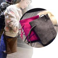 2015 Single New Brand Bucket women Handbag Pu Leather Frosted women Shoulder Bag Messenger bag free