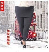 1 piece 3XL Autumn Winter Ladies velvet Plus Size Clothing Faux 2 Pieces Leggings with Mini Skirts Elastic Long pant trouser