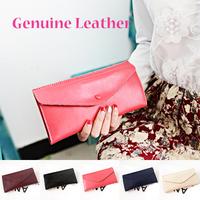 2015 Fashion Genuine leather women wallet with 5 colors small women handbags solid carteira feminina women purse