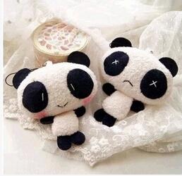 New Plush panda key chain Small pendants Small gifts free shipping(China (Mainland))