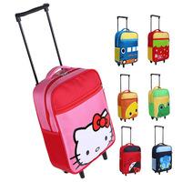 NEW Detachable Child Trolley School Bag Cartoon Animal Backpack Primary School Students Travel Shoulders Bags Kids Bags bp0675