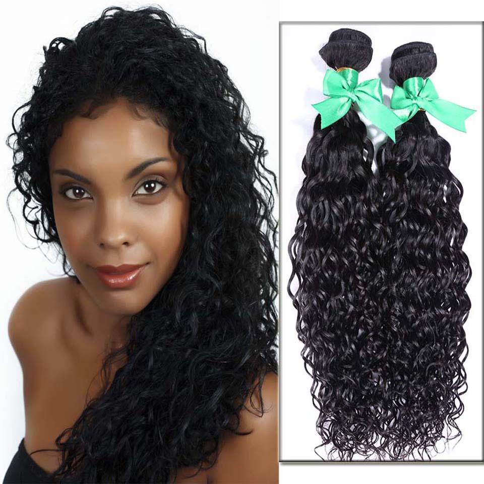Fashion Show Hair 6A Unprocessed Virgin Hair Mongolian water Wave Natural Black Hair weave Bundles Cheap Mongolian Hair 2Pcs Lot(China (Mainland))