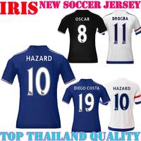 Chelsea jerseys 2015 2016 chelsea home away white black hazard oscar 15 16 chelsea jersey all player football shrit free ship