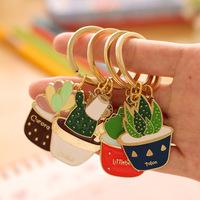 Novelty Christmas Gift 2015 Keychain Creative Plant Key Chain Charms women Car Trinket Christmas gifts Key Holder Wholesale