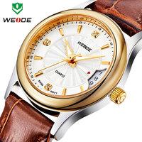 Fashion Luxury ladies watch genuine leather strap wristwatches calendar rose gold clock waterproof quartz analog women watches