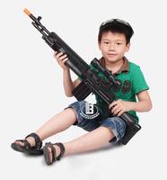 Hot Selling Black Electric Gun AK47 electric toy gun - with sound, infrared, vibration, light