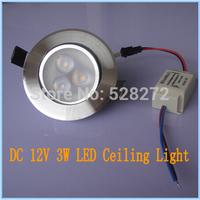 Input DC 12V 3W led ceiling Spot Light Down Light cool white and warm white lighting led spotlight lamp Free shipping