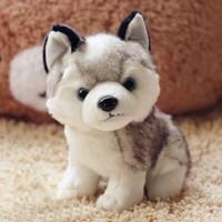 18CM Stuffed Animals & Plush Dog Toy Husky, Plush Soft Puppy Doll Decoration For Baby Happy Birthday Gift