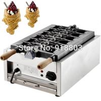 220v Electric Japanese Fish Cream Filled Open Mouth Taiyaki Maker Machine Baker Iron
