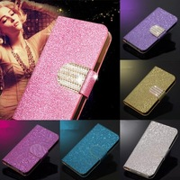 New Arrival Fashion Shinning PU Leather Case For Alcatel One Touch Pop 7047 OT7047D 7047D TCL J920 Vertical Magnetic Free ship